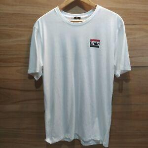BRIXTON Tee / Mens LARGE L / BRXTN / White Tshirt / Casual T Shirt