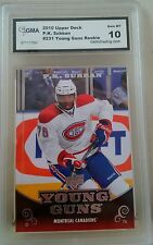 """P.K. SUBBAN""  Young Guns ROOKIE - RC - GMA 10 - Gem"