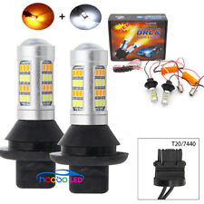 2pc T20 7740 42 SMD 50W Switchback LED lamp DRL Dual-Color Turn Signal Light Kit