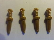 PLAYMOBIL:4 POIGNARDS DORES POUR EGYPTIENS#KNIFE DAGGER DOLCH DAGA DAGUE # 38