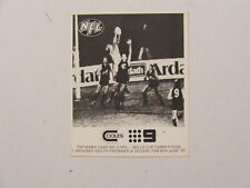 1976 AFL Wills Cup Coles/TCN9 Top Mark #2 South Fremantle & Carlton