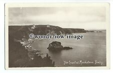 tq1372 - Looking across Rocky Coast at Monkstone from Cliffs, Tenby - postcard