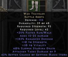 War Traveler 43% mf Kriegsreisender magicfind Diablo 2 Resurrected D2R