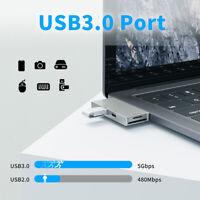 AU_ BG_ 5 in 1 HMDI/PD/Micro-SD/TF Card Reader USB Type C Hub Adapter Converter