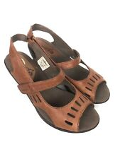 Merrell Evera Chase Cycling Sandals Tan Leather Slingback Womens Size 6.5