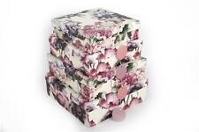Nido De 4 De Regalo actual de almacenamiento de apilamiento Cajas Flor Magnolia Hortensia Caja