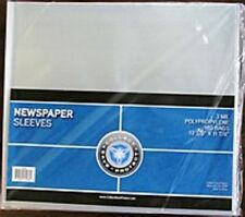 25 NEWSPAPER COLLECTOR STORAGE BAGS CRYSTAL CLEAR ARCHIVAL SAFE