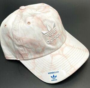 Adidas Women's Relaxed Tie Dye Strapback OSFA Cap Dust Pink/White #CK5042 NWT