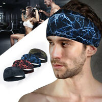 Men Women Sweat Sweatband Headband Yoga Gym Running Stretch-Sports Head Band