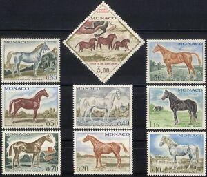 Monaco 1970 Horses/Animals/Nature/Transport/Sport/Rock Art 9v set (mc1074)
