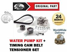 FOR VOLVO S60 2.4 TDi D5 2001-  GATES TIMING CAM BELT TENSIONER KIT + WATER PUMP