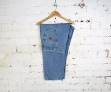 "Vintage Carhartt Mens Washed Denim Straight Leg Jeans Workwear Trousers 48""x28"""