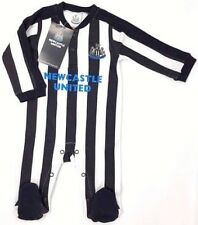 Official Newcastle United F.c. Babygrow Sleepsuit 0 - 3 Months St Football Gift