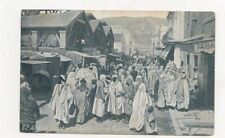 Algerie Quartier Arabe Jour De Marche North Africa Vintage Postcard 909a