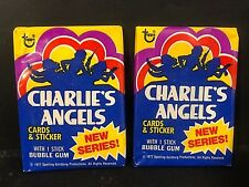1977 Topps CHARLIE'S ANGELS Series 2 LOT of ( 2 ) Vintage WAX PACKS Sealed NEW!