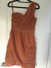 Burnt Orange Chiffon Party Dress H&M Size EU36 / UK 8 / Small