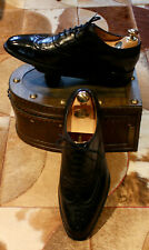 CHURCH'S MENS BLACK LEATHER BROGUES - RECENTLY REFURBISHED BY CHURCH - UK 8