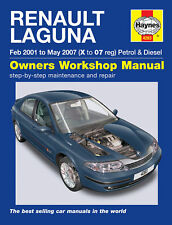 Haynes Manual 4283 Renault Laguna 1.9 2.0 2.2 DCi Dynamique Expression 2000-07
