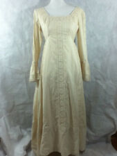 Emma Domb Of California Dress 1973 Off White Lace Peasant Edwardian L/S Size 11