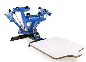 VEVOR Screen Printing Machine 4 Color Silk Screen Printing Machine 1 Station Adj