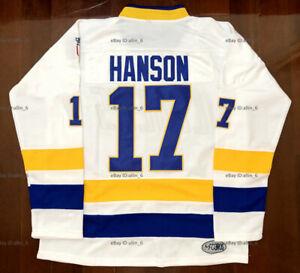 Hanson Brothers #17 Charlestown Chiefs Slap Shot Movie Hockey Jersey Men's White