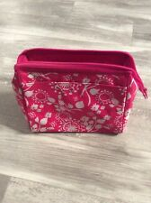 Thirty One Cosmetic Bag In Pink Floral Brushstrokes