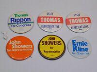Pin Lot Vintage Metal Button Pinback Pennsylvania Political Ernie Kline Thomas +