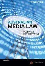 Australian Media Law by Des Butler, Sharon Rodrick (Paperback, 2015)