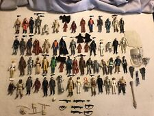 Lot 60 Vintage Kenner Star Wars Figures Weapons Blue Snaggletooth Leia Yoda Fett