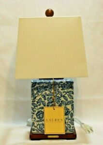 Ralph Lauren Blue & White Floral Asian Influence Porcelain Table Lamp Shade New