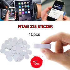10X Ntag215 Nfc Tags Blank Cards Rfid Waterpoof Chip Labels For Amiibo Android
