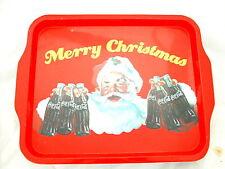 * COCA COLA®  PLATEAU METAL MERRY CHRISTMAS PERE NOEL 38.5 cm x 29.5 cm