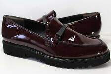 PAUL GREEN Slip On Loafers Burgandy Patent Leather Mens 7.5 R399