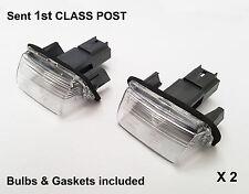 2 x Peugeot 206 Partner Tepee Expert Traveller Rear Number Plate Light Lamp New