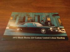 1972 Buick Electra 225 Custom Limited 2-Door  Vintage Advertising Postcard