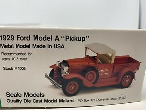 "Scale Models 4005 1929 Ford Model A ""Pickup"" Metal Models Kit"