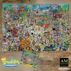 AQUARIUS Puzzle - Nickelodeon Spongebob di Bikini Bottom - 3000 Parti - Nuovo /