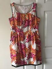 9a9f1c9b43a6 Cato Women s Sleeveless Pink Orange White Sheath Dress Stretch Size 12  Pockets