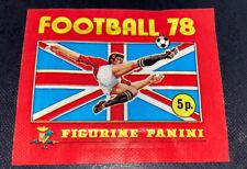 PANINI FOOTBALL 78 ORIGINAL SEALED UNOPENED STICKER PACK ORIGINAL