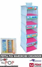 PEPPA PIG WARDROBE ORGANIZER  115x30x30cm BNWT  BLUE AND PINK BBC KIDS CARTOONS