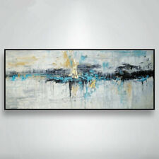 "YA1046 Modern Wall decor Hand-painted Abstract art Canvas oil painting 24""x60"""