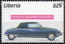 1960-1971 CITROEN DS.21 Decapotable Mint Automobile Car Stamp (2001 Liberia)
