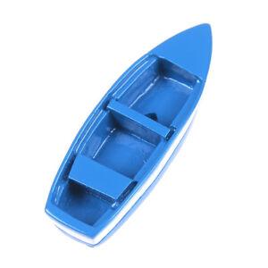 Resin mini boat decoration statues home landscape exquisite creative blue BDAUNI