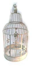 Shabby Chic Deko Vogelkäfig Vintage Retro mit französischer Lilie 48cm hoch