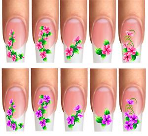 Wraps Nail Art Design , Nail Tattoos , BLÜTEN-RANKE, BLUMEN  Florwer