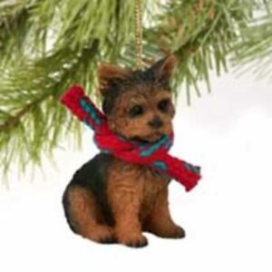 Yorkshire Terrier Christmas Tree Figurine Decoration/Ornament Dog Present/Gift