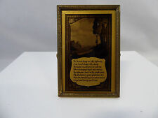 Antique Black & Gold Poem Vanity Mirror Picture with Stand