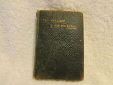 ROUTLEDGE'S MINIATURE REFERENCE LIBRARY- TECHNICAL AND SCIENTIFIC TERMS - 1900's