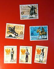 lotto 6 francobolli napoleone cuba guinea ecuatorial Napoleon
