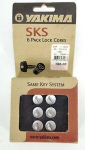 Yakima SKS Lock Cores 6 Pack #07206 W/ Keys + Control Key -Brand New In Box